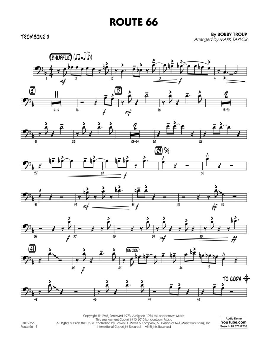 Route 66 (Key: F) - Trombone 3