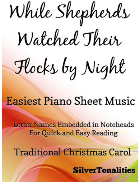 While Shepherds Watched Their Flocks by Night Easiest Piano Sheet Music
