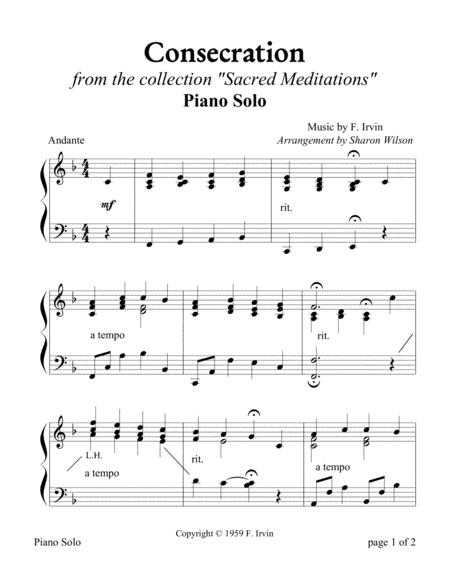 Consecration (Piano Solo)
