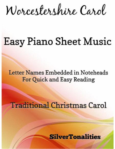 Worcestershire Carol Easy Piano Sheet Music