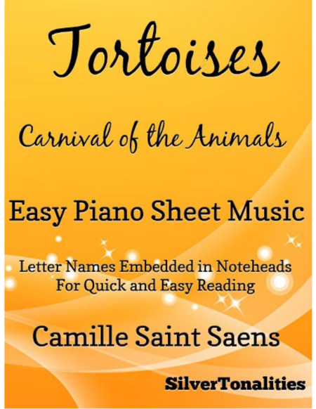 Tortoises Carnival of theh Animals Easy Piano Sheet Music