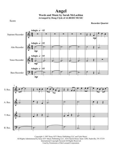 Angel for Recorder Quartet
