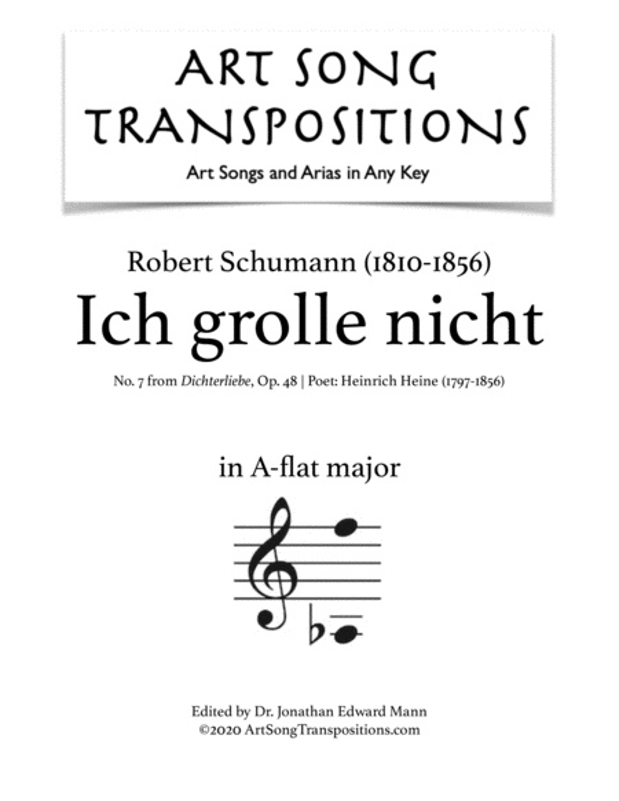 Ich grolle nicht, Op. 48 no. 7 (A-flat major)