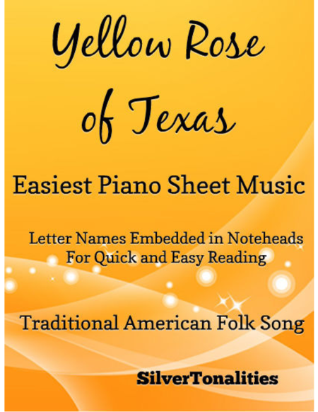 Yellow Rose of Texas Easiest Piano Sheet Music