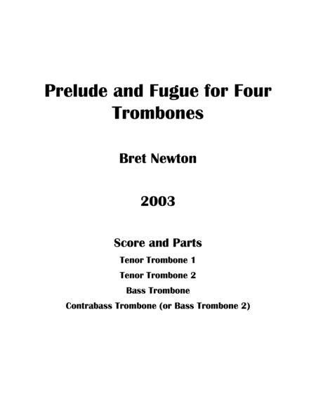 Prelude and Fugue for Four Trombones