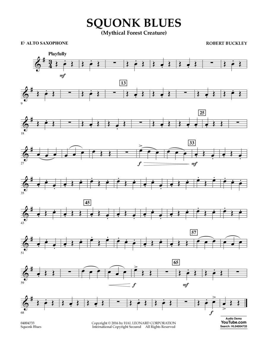 Squonk Blues - Eb Alto Saxophone