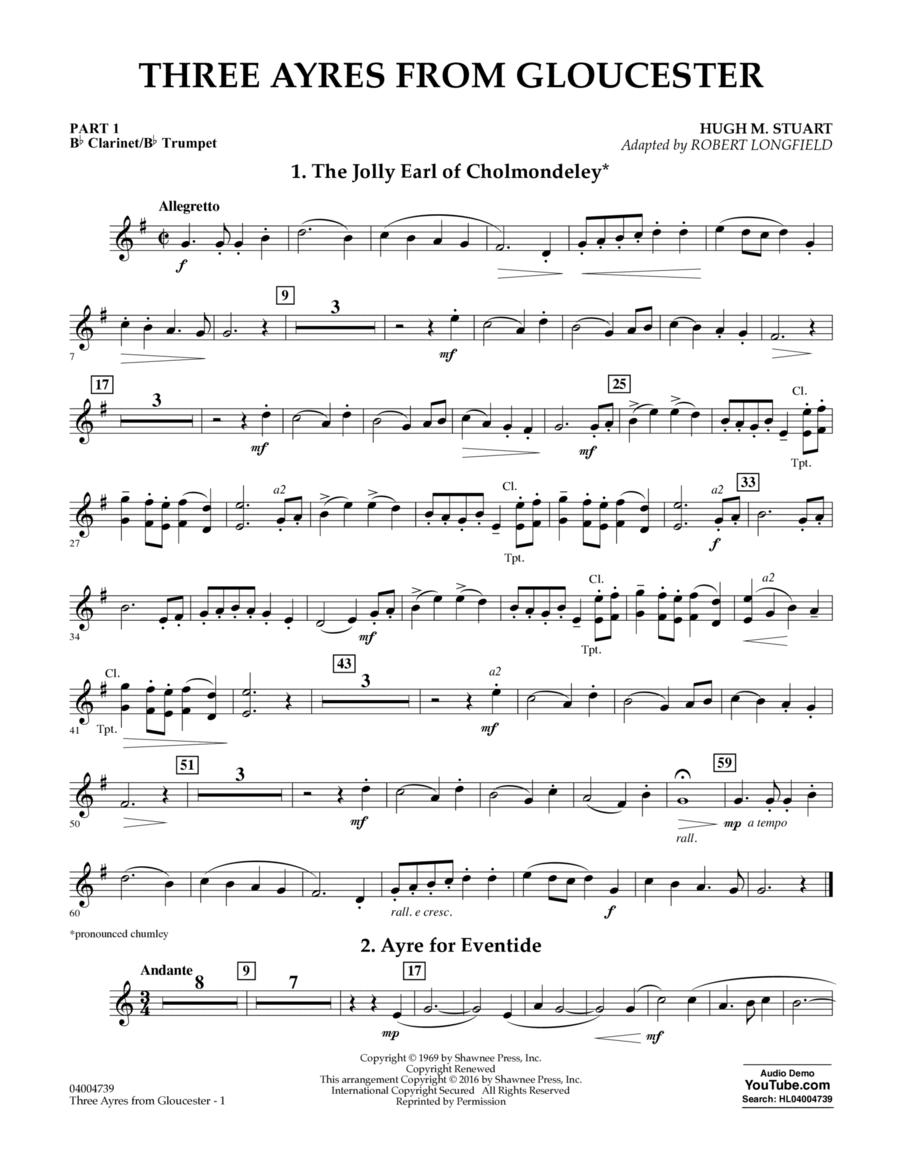 Three Ayres from Gloucester - Pt.1 - Bb Clarinet/Bb Trumpet