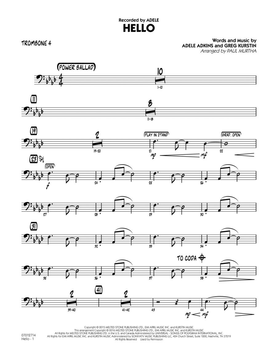 Hello - Trombone 4