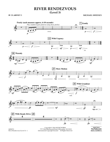 River Rendezvous - Bb Clarinet 3 (Level 3)