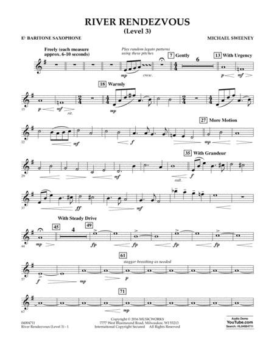 River Rendezvous - Eb Baritone Saxophone (Level 3