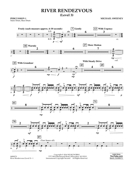 River Rendezvous - Percussion 1 (Level 3)