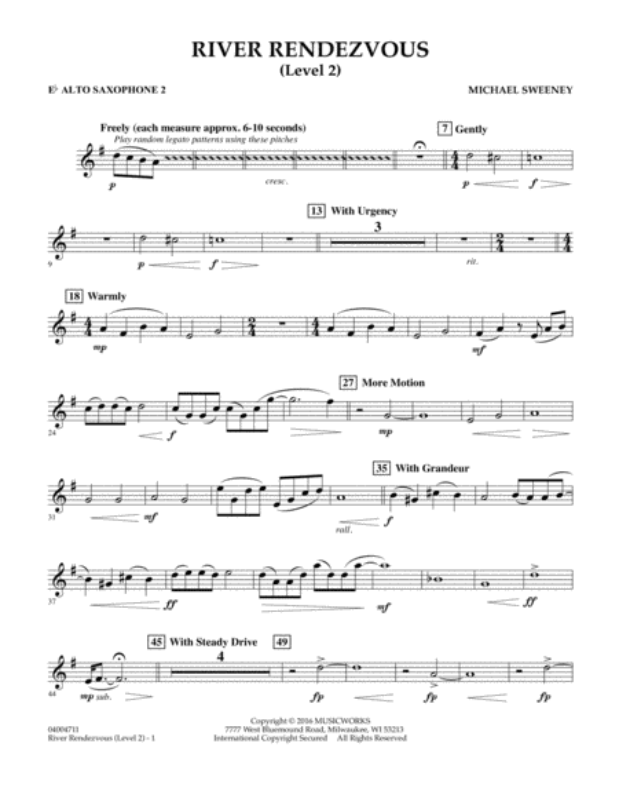 River Rendezvous - Eb Alto Saxophone 2 (Level 2)