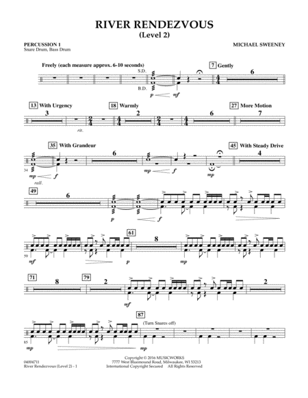 River Rendezvous - Percussion 1 (Level 2)