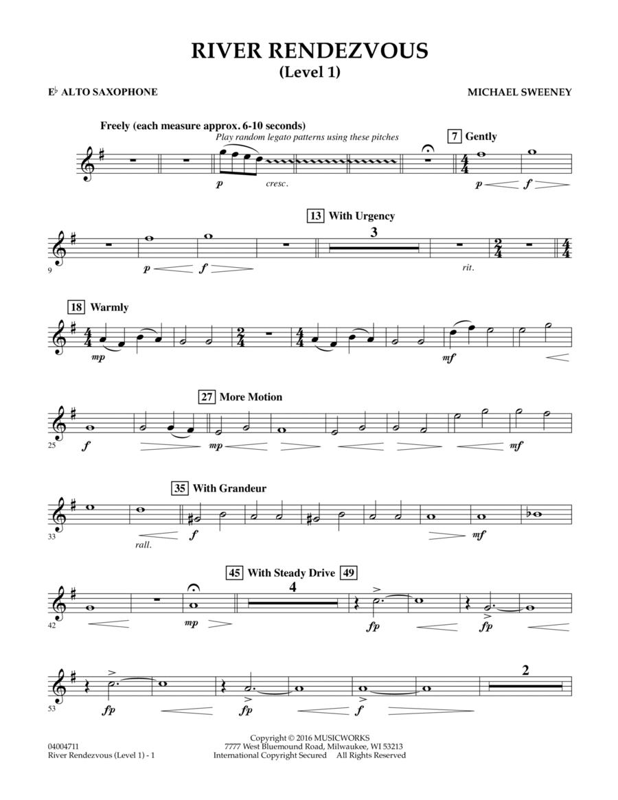River Rendezvous - Eb Alto Saxophone (Level 1)