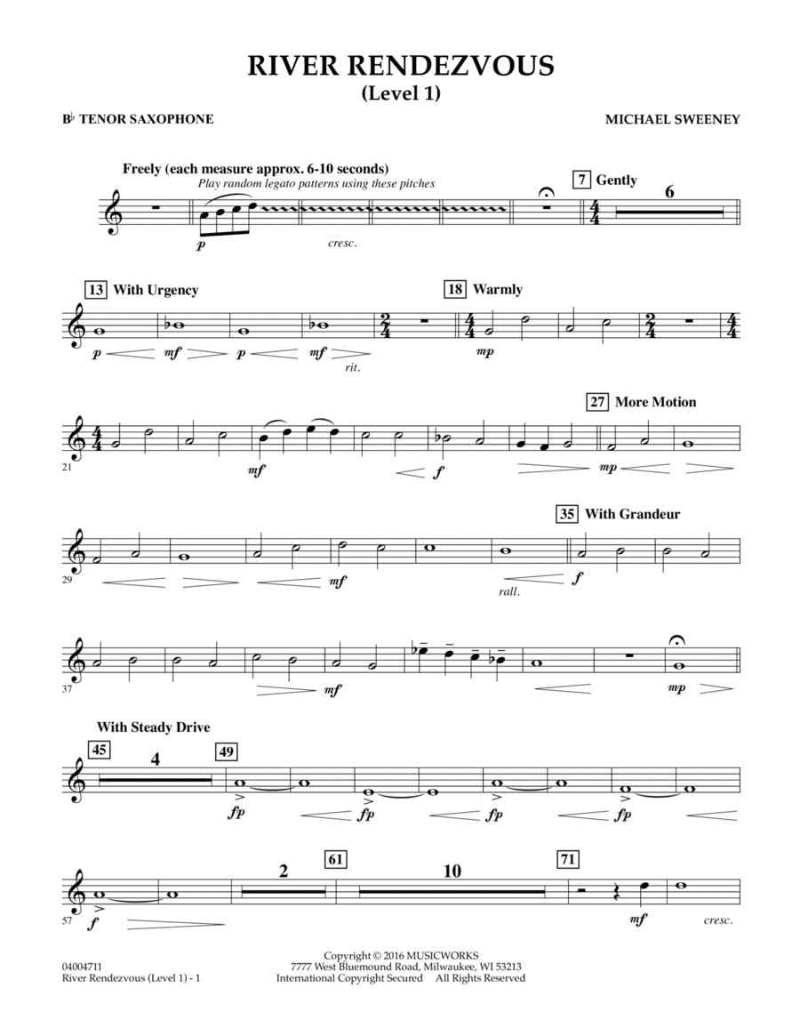 River Rendezvous - Bb Tenor Saxophone (Level 1)