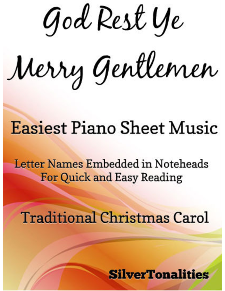 God Rest Ye Merry Gentlemen Easiest Piano Sheet Music