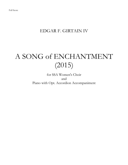 A Song of Enchantment