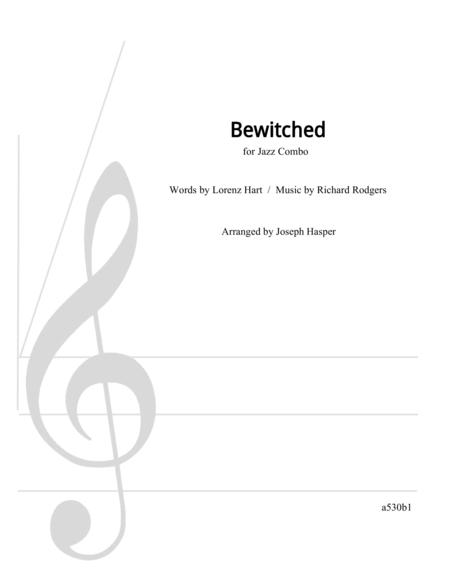 Bewitched (Basic Jazz Combo Chart)