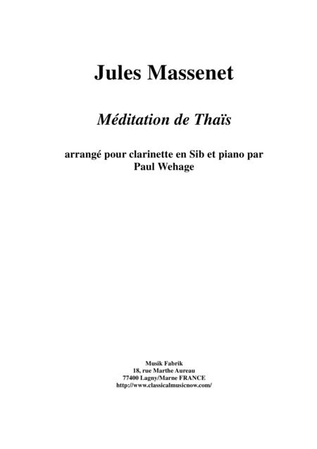 Jules Massenet:  Meditation from
