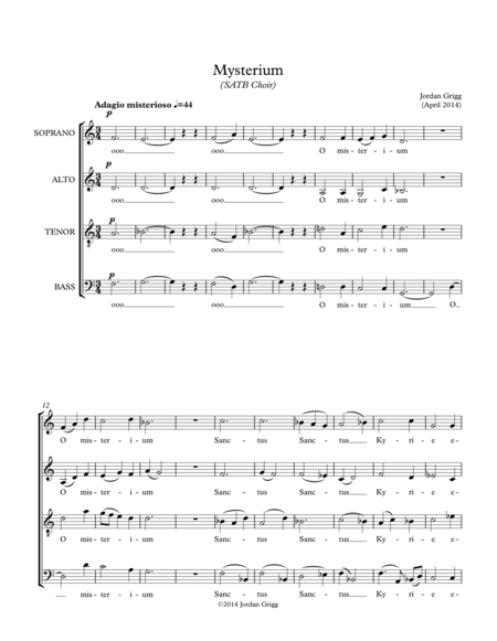Mysterium (SATB Choir)