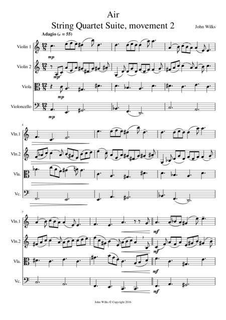Air - String Quartet (Mov #2 of String Suite)