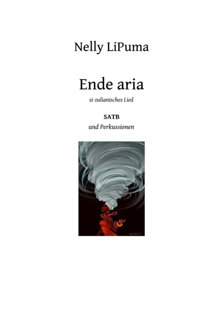 Ende aria for SATB and percussions opt.