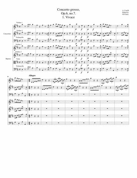 Concerto grosso, Op.6, no.7 (Original)