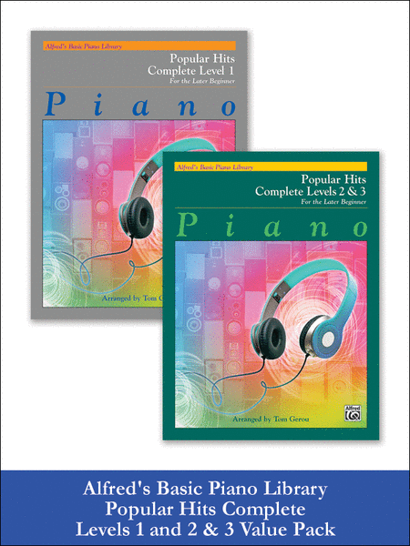Alfred's Basic Piano Course: Popular Hits, Complete Levels 1 and 2 & 3 (Value Pack)