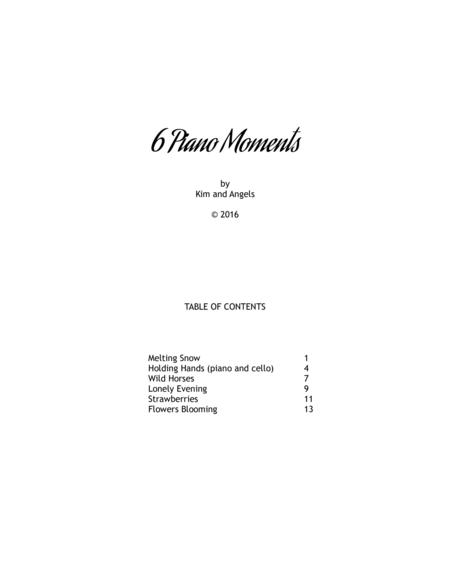 6 Piano Moments