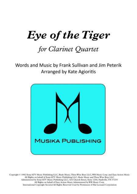 Eye Of The Tiger - Clarinet Quartet