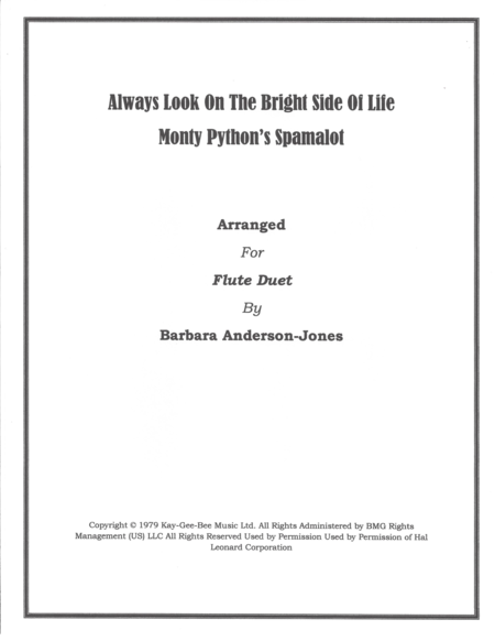 Always Look On The Bright Side Of Life (Flute Duet)