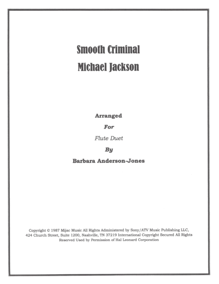 Smooth Criminal (Flute Duet)