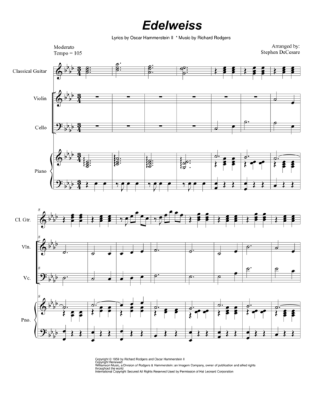Edelweiss (Duet for Violin and Cello)