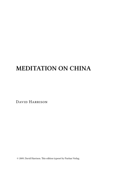 Meditation on CHINA