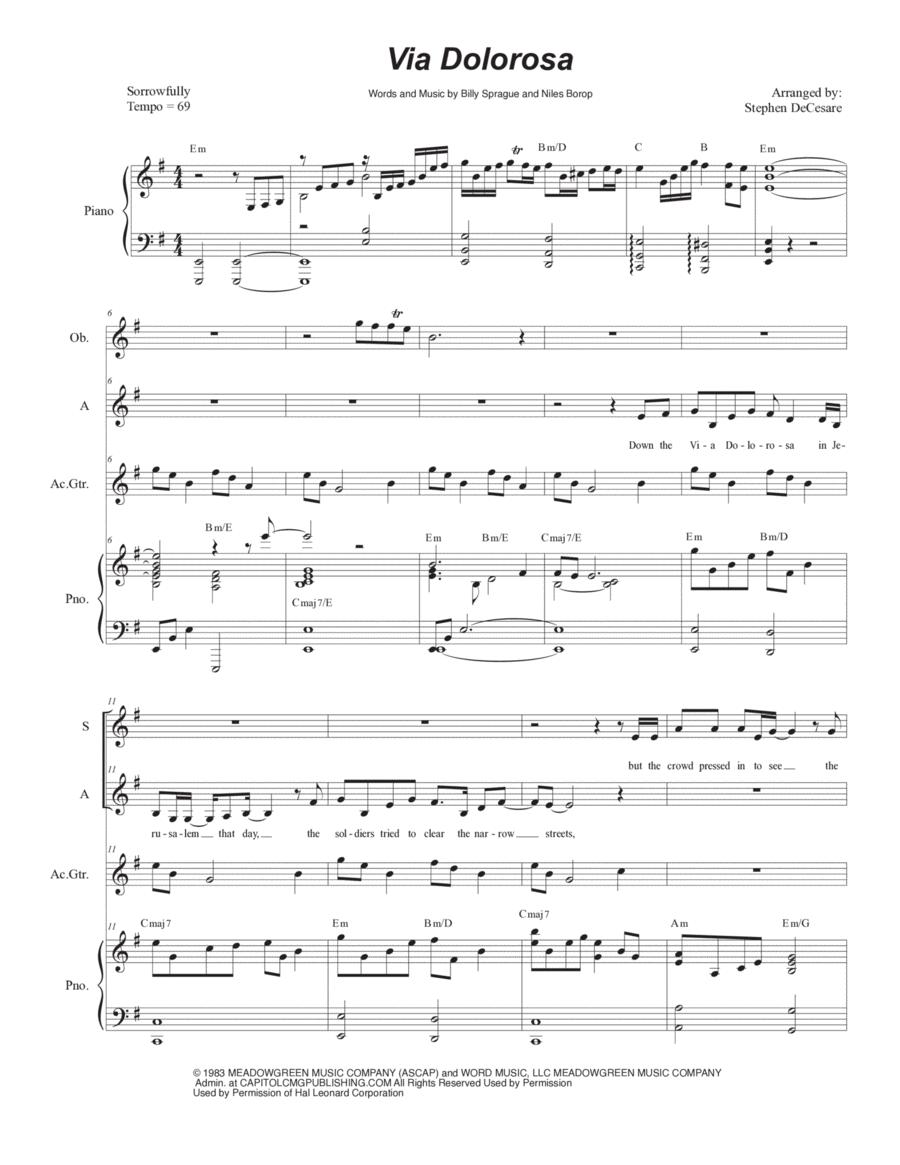 Via Dolorosa (Duet for Soprano and Alto Solo)
