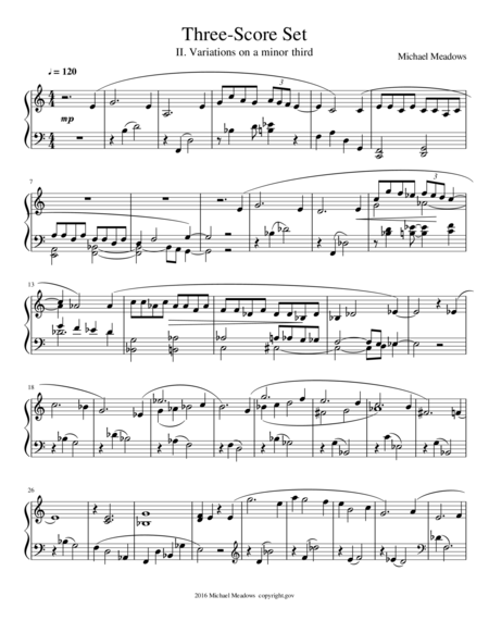Three-Score Set: II. Variations on a minor third.
