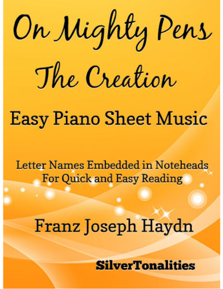 On Mighty Pens the Creation Easy Piano Sheet Music