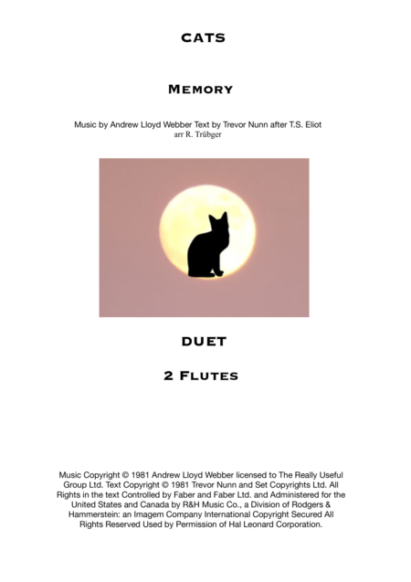 Memory from Cats - Duet for flutes