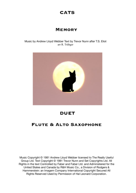 Memory from Cats - Duet for Flute and Alto Saxophone