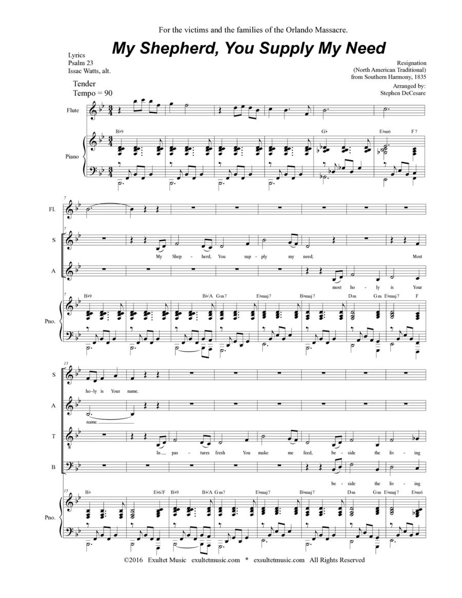 My Shepherd, You Supply My Need