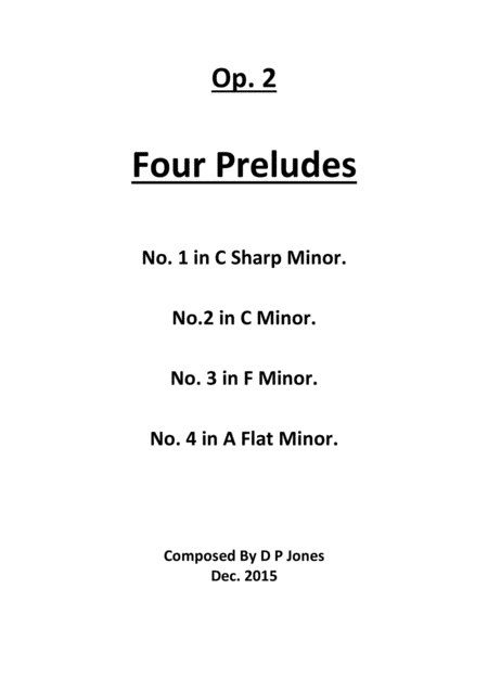 Op. 2. Four Preludes
