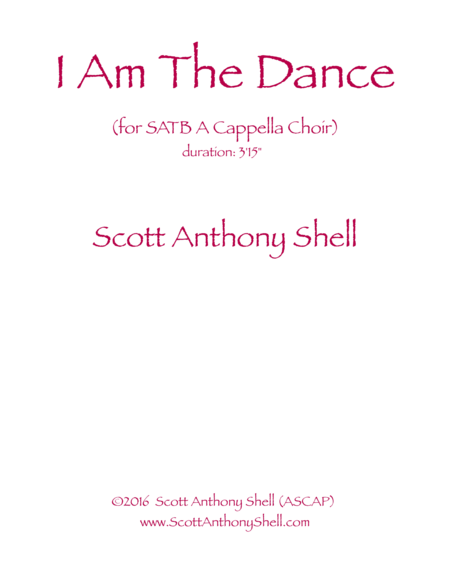 I Am The Dance (SATB)