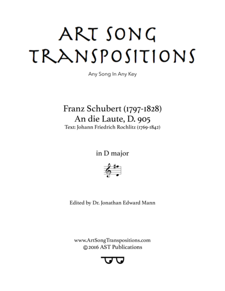 An die Laute, D. 905 (D major)