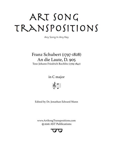 An die Laute, D. 905 (C major)