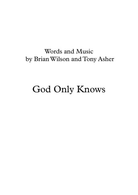 Beach Boys: God Only Knows - horn quartet