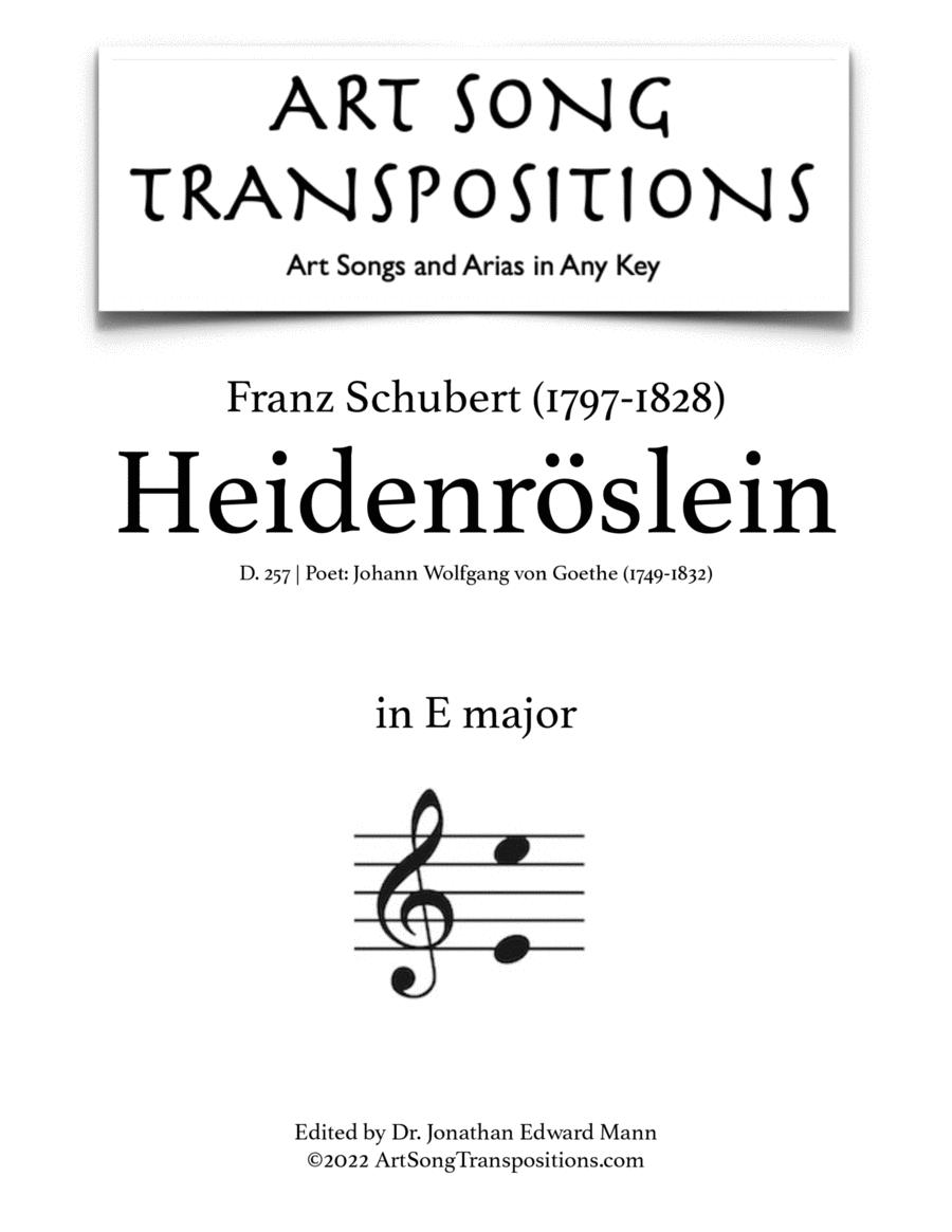 Heidenröslein, D. 257 (E major)