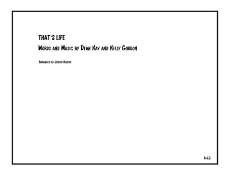 That's Life (Jazz Combo)