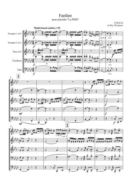 Dukas: Fanfare (pour précéder