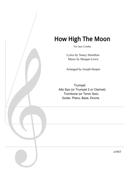 download how high the moon flexible jazz combo sheet music by les paul sheet music plus. Black Bedroom Furniture Sets. Home Design Ideas