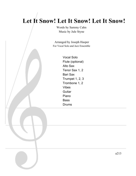 Let It Snow! Let It Snow! Let It Snow! (Vocal Solo and Jazz Ensemble)